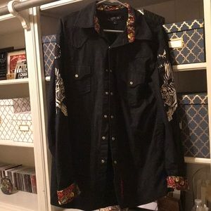 Ed hardy button up